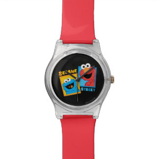 Elmoおよびクッキーモンスターの友人 腕時計