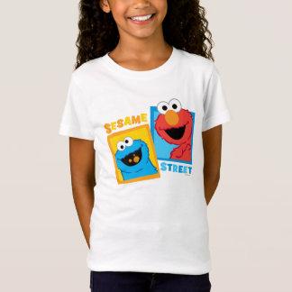 Elmoおよびクッキーモンスターの友人 Tシャツ