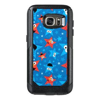 Elmoおよびクッキーモンスター愛国心が強いパターン オッターボックスSamsung Galaxy S7ケース