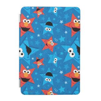 Elmoおよびクッキーモンスター愛国心が強いパターン iPad Miniカバー
