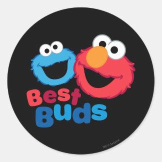 ElmoおよびクッキーBesties ラウンドシール