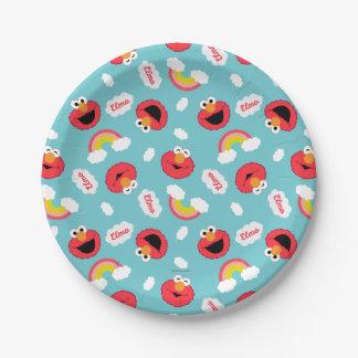 Elmoおよび虹パターン ペーパープレート