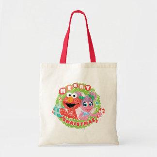 ElmoおよびAbbyの走り書き トートバッグ