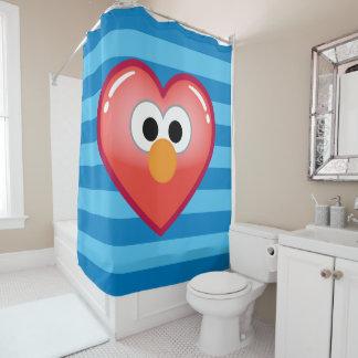Elmoのハート シャワーカーテン