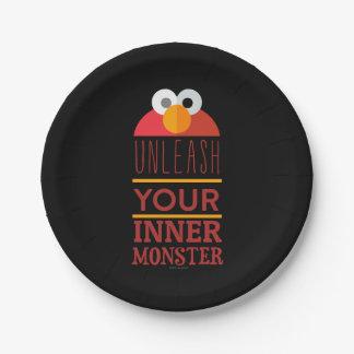 Elmoの内部モンスター ペーパープレート