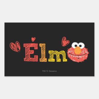 Elmoの名前 長方形シール