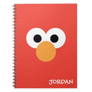 Elmoの大きい顔 はあなたの名前を加えます ノートブック