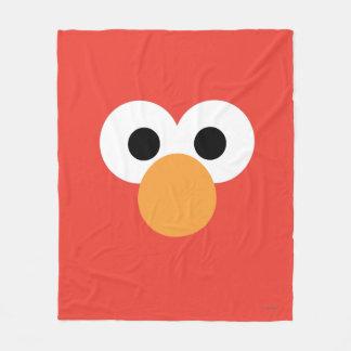 Elmoの大きい顔 フリースブランケット