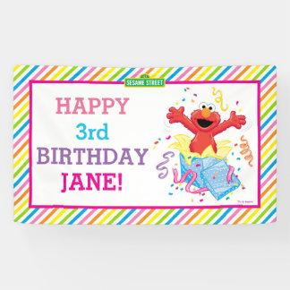 Elmoの女の子の誕生日 横断幕