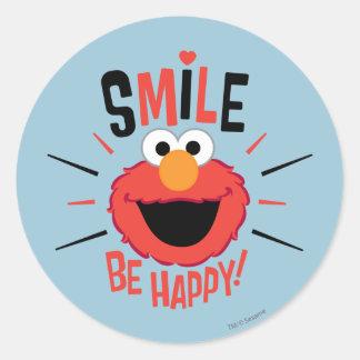 Elmoの幸せなスマイル ラウンドシール