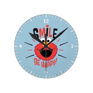 Elmoの幸せなスマイル ラウンド壁時計