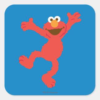 Elmoの幸せな踊り スクエアシール