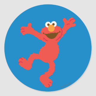 Elmoの幸せな踊り ラウンドシール