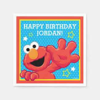 Elmoの極度な誕生日 スタンダードカクテルナプキン