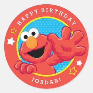 Elmoの極度な誕生日 ラウンドシール