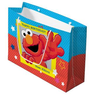 Elmoの極度な誕生日 ラージペーパーバッグ