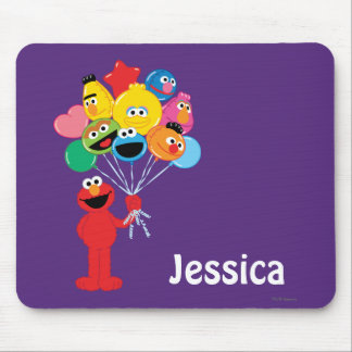 Elmoの気球は|あなたの名前を加えます マウスパッド