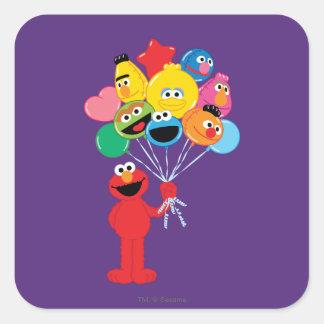 Elmoの気球 スクエアシール