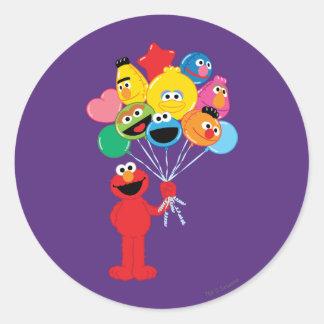 Elmoの気球 ラウンドシール