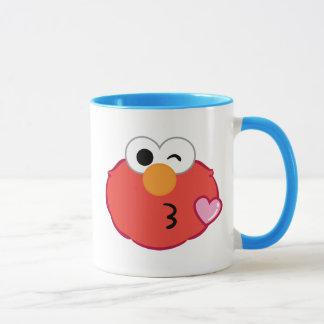 Elmoはキスの投げに直面します マグカップ