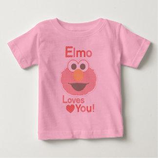 Elmoは愛します ベビーTシャツ