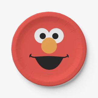 Elmoは芸術に直面します ペーパープレート