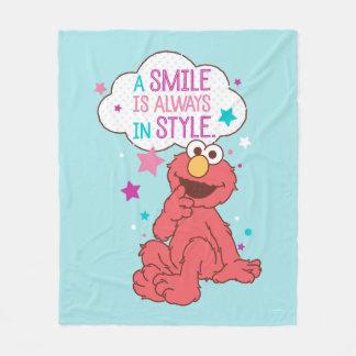 Elmoは スマイルスタイル常にです フリースブランケット