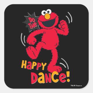 Elmoは|幸せなダンスをします スクエアシール