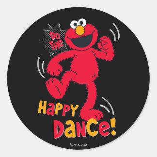 Elmoは|幸せなダンスをします ラウンドシール
