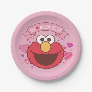 ElmoはElmoに|私のハート属します ペーパープレート