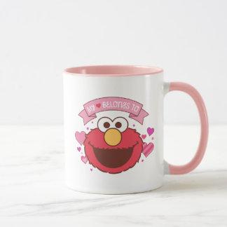 ElmoはElmoに|私のハート属します マグカップ