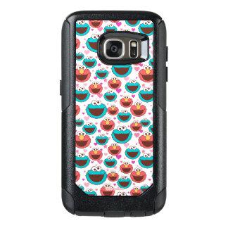 Elmo及びクッキーモンスター|の平和及び愛パターン オッターボックスSamsung Galaxy S7ケース
