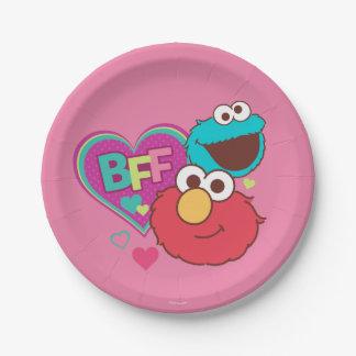 Elmo及びクッキーモンスター- BFF ペーパープレート