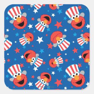 Elmo愛国心が強いパターン スクエアシール