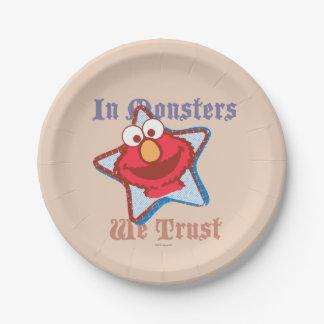 Elmo私達は-モンスターで…信頼します ペーパープレート