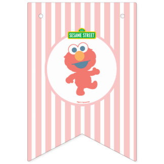 Elmo |のベビーの最初誕生日 バンティングフラッグ
