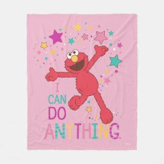Elmo  私は何でもしてもいいです フリースブランケット