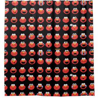 Elmo Emojiパターン シャワーカーテン
