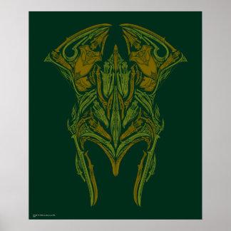 Elvenの武器のヘルメットアイコン ポスター