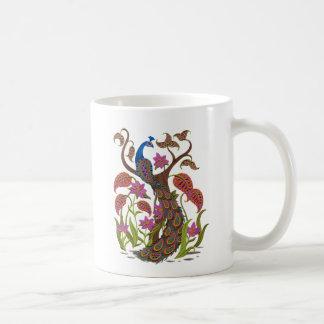 embroidereyの孔雀 コーヒーマグカップ