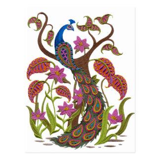 embroidereyの孔雀 ポストカード