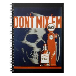 EmDon't飲み物を混合しないし、ノートを運転しないで下さい ノートブック