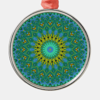 Emerald Isleの青空の万華鏡のように千変万化するパターン メタルオーナメント