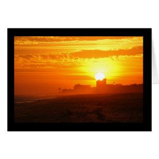 Emerald Isleを見落とす日没 カード