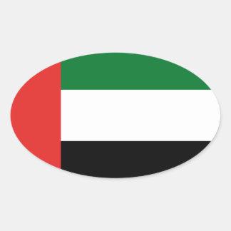 Emiradosarabesの旗 楕円形シール