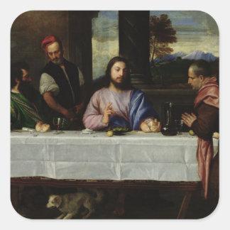 Emmaus、c.1535の夕食 スクエアシール