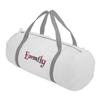 Emmilyのカラフルなおもしろい ジムバッグ