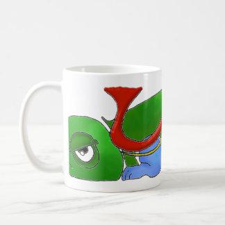 Emoのカメのマグ コーヒーマグカップ