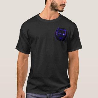 Emoのネオン青いTシャツ Tシャツ