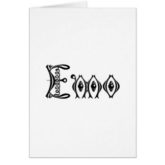 Emoのビクトリアンなパンクの原稿 カード
